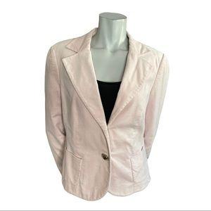 Ambiente Pale Pink Velvet Blazer Size 10